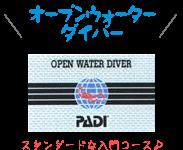 PADIオープンウォーターダイバーコース