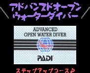 PADIアドバンスドオープンウォーターダイバーコース